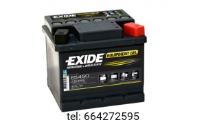 Akumulator Exide Equipment Gel ES450 12V 40 AH 450Wh 280A