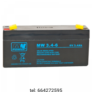Akumulator MW Power  6V 3,4 AH