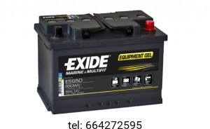 Akumulator Exide Equipment Gel ES650 12V 56 AH 650Wh
