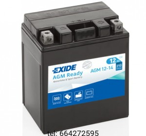EXIDE BIKE  AGM READY 12-14 12V 12AH 210A