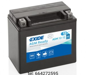 EXIDE BIKE AGM  READY 12-12 12V 10AH 150A
